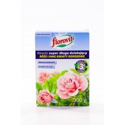 """Удобрение """"Флоровит"""" (Florovit) длительного действия для роз и других цветущих, 300г (коробка)"""