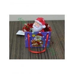 Дед Мороз керамический в пакетике 3,8'3,2'7см TG38164-2
