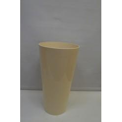 Вазон пластмассовый Туба Вулкано 20 кремовый