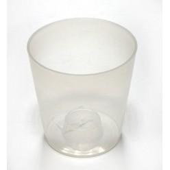 """Горшок пластиковый """"Орхидея Геометрик"""" прозрачный 13 белый"""