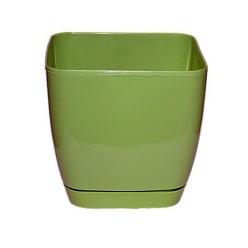 """Горшок пластиковый """"Тоскана Квадрат"""" 11 серо-зеленый 0730-021"""