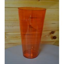 Вазон пластмассовый Туба Вулкано 20 коричневый