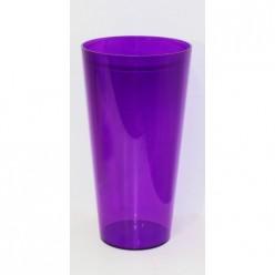 Вазон пластмассовый Туба Вулкано 15 фиолетовый 2450-005