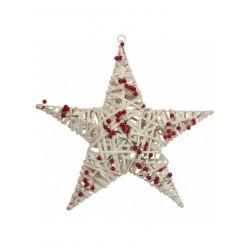 Звезда ёлочная из лозы 50 см арт. LIS5806
