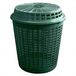 Корзина пластмассовая огородная с крышкой 60л зеленый IKOSZ-G851