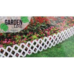 Заборчик садовый пластмассовый, 4 секции