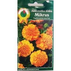 Бархатцы низкие Микрус оранжевые 0,5 г