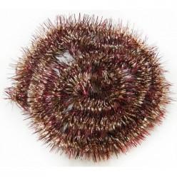 Мишура еловая золотисто-вишневая витая 2м GWS750223-01