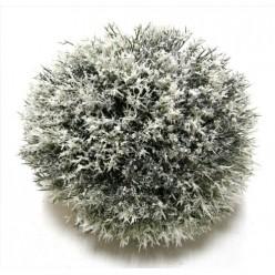 Шар еловый искусственный заснеженный подвесной 20см К53145