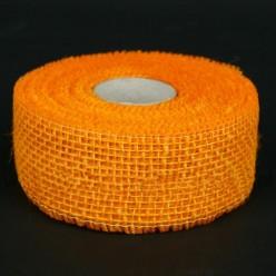 Лента джутовая оранжевая R020-16