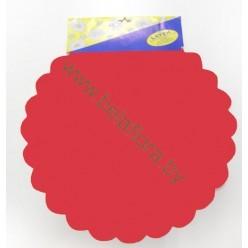 Фольга салфетка красная M0027-01