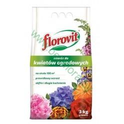 Удобрение Флоровит для садовых цветов 3 кг, мешок