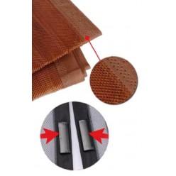 Сетка москитная на магнитах на дверь 100*210/220см коричневая HEB1467