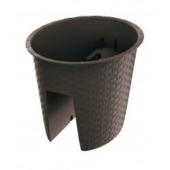 Горшок балконный на перила RATOLLA OVAL коричневый 30см 6л