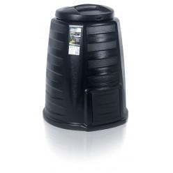 Компостер пластиковый ECOCOMPO черный 340л  d78см h1040м