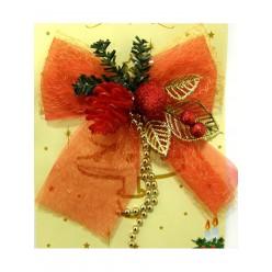 Бант текстильный рождественский GIF1659
