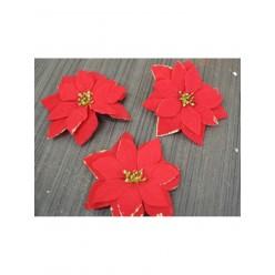 Цветок искусственный Пуансеттия головка