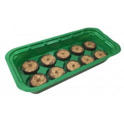 Мини-теплица с торфяными таблетками (10шт) 25х12,5х3,5см EDA8556