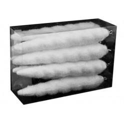 Сосульки ёлочные белые заснеженные  8шт 15см ANT6421