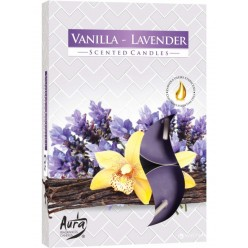 Свеча ароматизированная плав. Ваниль и лаванда (6шт/уп) 801486