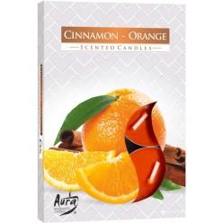 Свеча ароматизированная плав. Апельсин с корицей (6шт/уп)