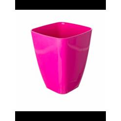 Кашпо пластмассовое Орхидея 13 квадрат розовый 0300-004