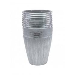 Ваза керамич. серебро 24,5 см арт. WS25