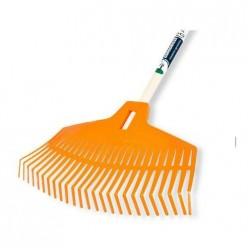 """Грабли пластмассовые для листьев и травы c деревянной ручкой 25-зуб. """"BIG"""" H25"""