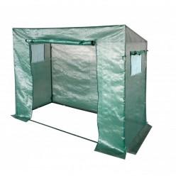 Теплица 200 x 77 x 168/146 см для помидор, огурцов зеленая с армированной пленкой с уф защитой TUN5507