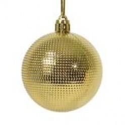 Шары ёлочные золото 6см 6шт/уп S649-02