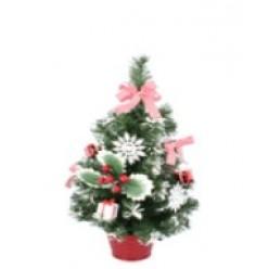 Ель искусственная 50см декор красно-белый ANT3305