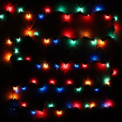 Гирлянда для дома MINI, 9м 180 ламп чёрный провод Мультицвет