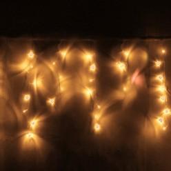Бахрома для улицы 3м*40/60см 100 ламп LED, Теплый белый