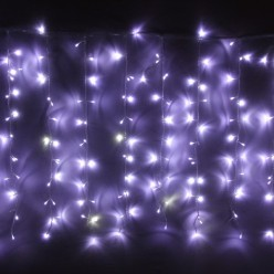 "Занавес для улицы ""Мерцание"" 2*1,5м 320 ламп LED, прозрач.пров, Белый"