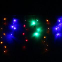 Бахрома для дома 1,5м*30/50см 48 ламп LED, прозрачн. провод, Мульти