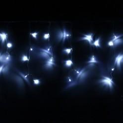 Бахрома для дома 3м*30/50см 120 ламп LED, прозрачн.провод, Белый