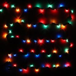 Гирлянда для дома MINI 7м 140 ламп чёрный провод, Мультицвет