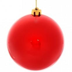 Шар новогодний красный глянец 15см  1шт/уп 201-0681