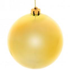 Шар новогодний золото глянец 15см 1шт/уп 201-0682