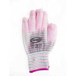 Перчатки защитные (п/э полиуретан), размер 8, микс