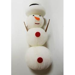 Снеговик текстильный с подсветкой LED 30 см К37786
