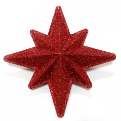 Звезда ёлочная пластиковая двухскладная 20014