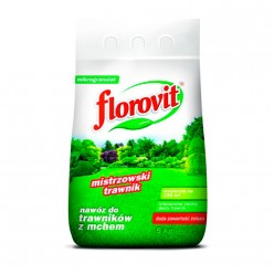 Удобрение Флоровит для газона с большим содержанием железа гран. 5кг, мешок