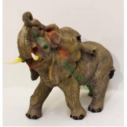 Слон со слоненком керамический 23см