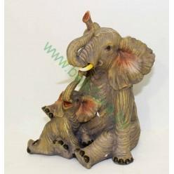Слон со слоненком керамический 16,5