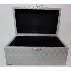 Шкатулка для бижутерии 20х12х9 см серебристая