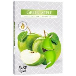 Свеча ароматизированная плав. Зеленое яблоко  (6шт/уп)