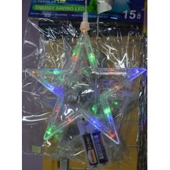 Украшение Лэд микс рождественский 19х15см 15л   Холодный свет на батарейках 6/11/BAT/CW