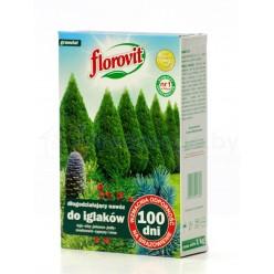 Удобрение Флоровит (Florovit) для туй длительного действия 100 дней 1 кг, коробка