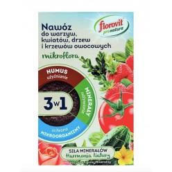 Удобрение Флоровит Про Натура  для овощей, цветов и плодовых гранулированное  1кг, коробка